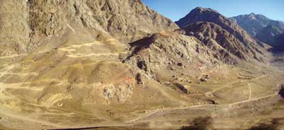 The area of the Tien Shan gold belt in southern Kyrgyzstan that includes the Shambesai project.