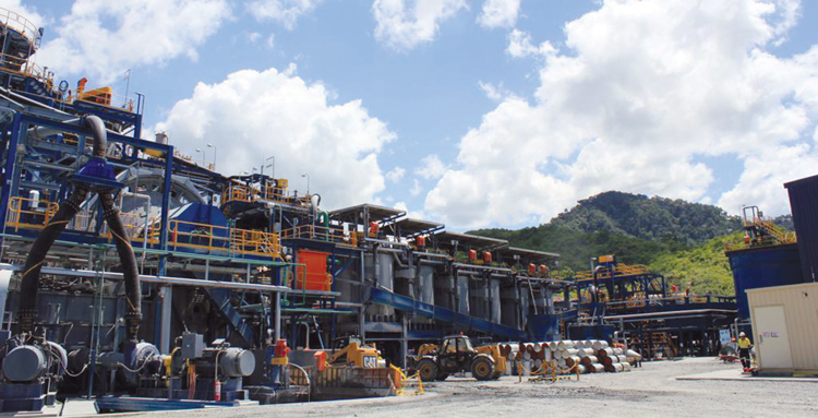 Processing facilities at OceanaGold's Didipio project in northern Luzon