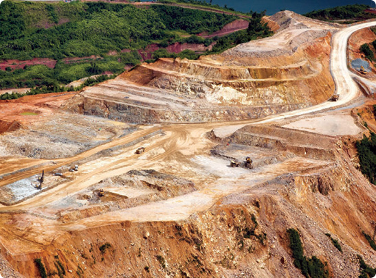 View of the open pit at the Ban Houayxai Gold-Silver Project.