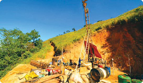 Drilling at Amanta Resources' Luang Namtha project in 2013.