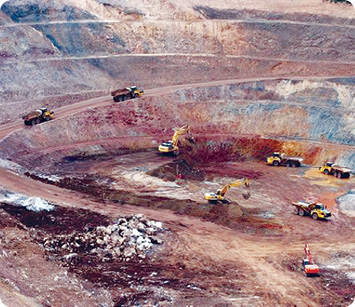 The open pit at MMG's Sepon Copper Project.