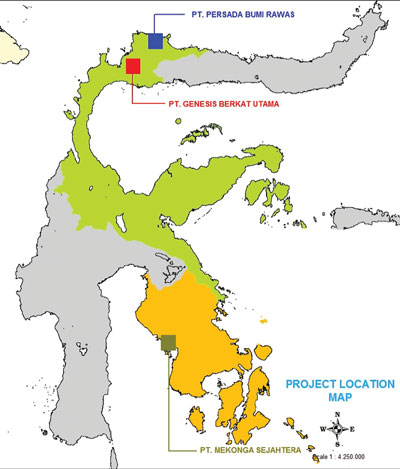 The Tamboli project of Western Mining's subsidiary PT Mekonnga Sejahtera is in southeast Sulawesi. The company has other prospects in the island's north.