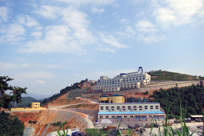The mill and warehouse at Silvercorp's GC project in Guangdong Province.