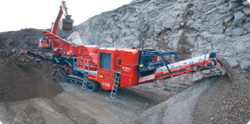 The Terex Finlay I-140 impact crusher can be used in mining, quarrying and recycling applications.