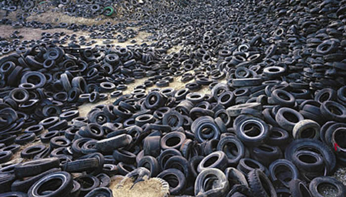 Turning old tyres into raw materials