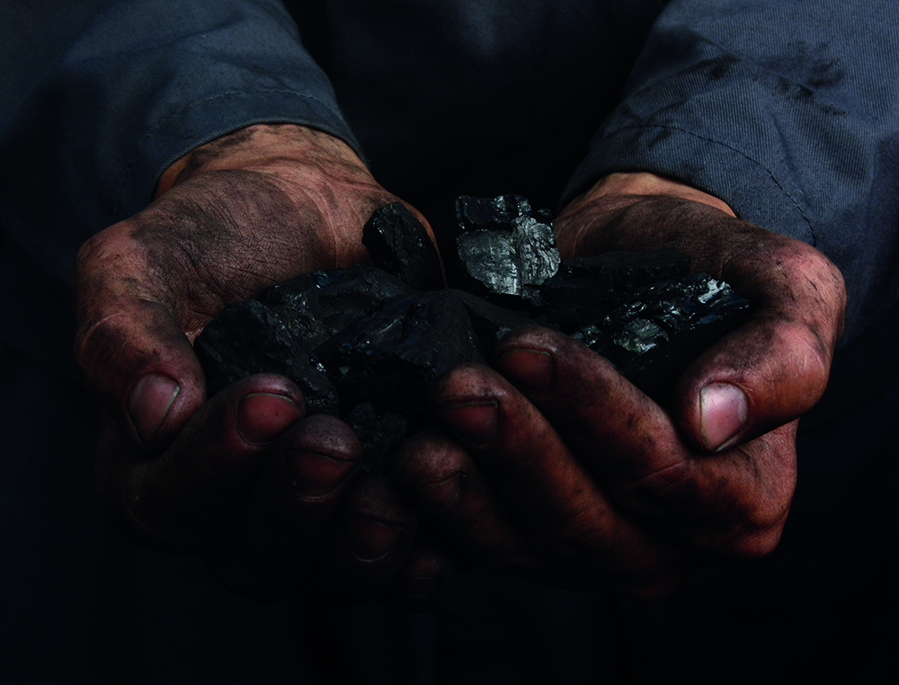 Coal in the hands